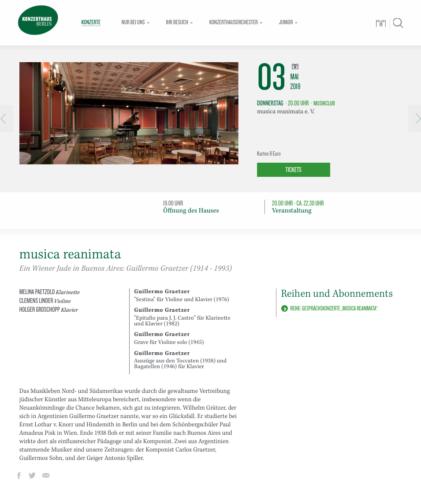 Musica reanimata Konzerthaus